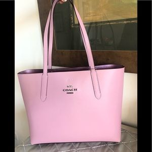 New COACH LEATHER TOTE PINK